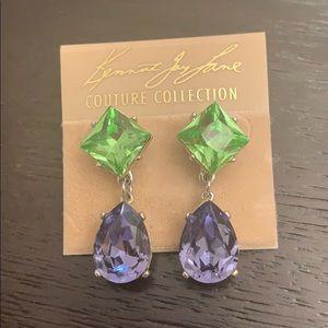 Kenneth Jay Lane crystal drop earrings NWT KJL